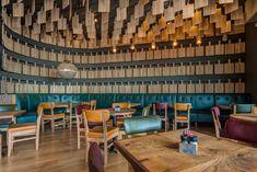Doppio Zero restaurant design by Design Partnership. Timber Boards, Environmental Design, Interior Photography, Hospitality Design, Mauritius, Design Agency, Restaurant Design, Contemporary Design, South Africa