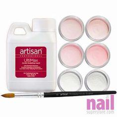 Artisan Acrylic Nail Kit   Flawless Pink & White French Manicure Kit