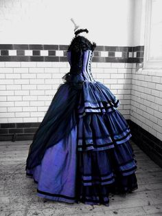 Ply role and black Victorian dress