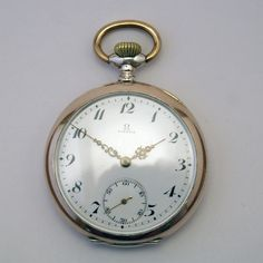 Omega pocket watch from 1914 in great condition via MarCels. Click on the image to see more!