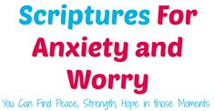 20 Scriptures for Anxiety and Worry! This can help you to find peace and strength when your mind is racing!!!