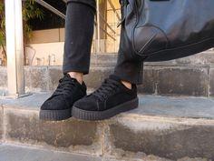 Black Suede Sneakers//