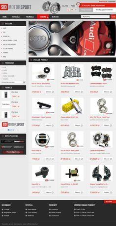 Wdrożenie sklepu internetowego SidMotorSport.pl wykonane przez firmę http://www.selljus.pl