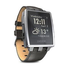 #Smartwatch Pebble Steel Negro.   http://www.opirata.com/es/smartwatch-pebble-steel-negro-p-36497.html