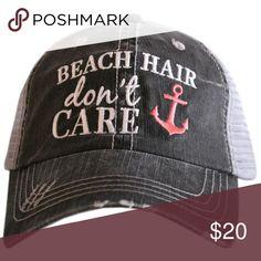 bc67838560578f Coral Beach Hair Don't Care Trucker Hat Look stylish in this Katydid Beach  Hair