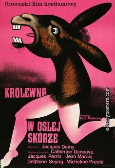Polish film poster- Donkey Skin
