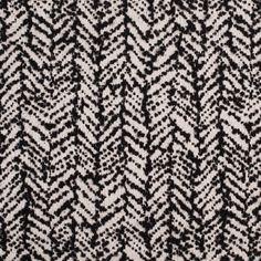 Famous NYC Designer Antique White/Black Herringbone Wool Woven Fabric by the Yard   Mood Fabrics