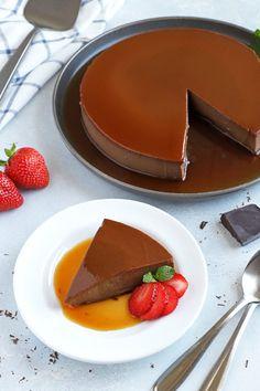 Pudding Desserts, Custard Desserts, Easy Desserts, Flan Dessert, Dessert Recipes, Flan Cake, Filipino Desserts, Chocolate Milk Mix, Chocolate Flan