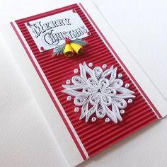 Merry Christmas Card - Christmas Card - Xmas Card - Handmade Christmas Card