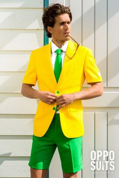 Summer Green and Gold Suit