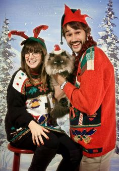 Don't Turn Your Back on the Ugly Christmas Sweater - Asylum.  →follow← ❄☃ Ugly Xmas Sweater Party ❄☃  @ ★☆Danielle ✶ Beasy☆★