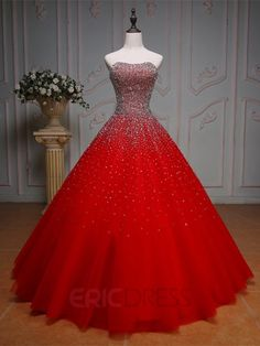 Ericdress Gorgeous Beaded Sweetheart Ball Gown Color Wedding Dress Wedding Dresses 2016- ericdress.com 12222587