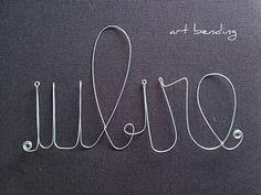 iubire | decoratiune de perete | wall decoration | 20X45 cm | crafted from galvanized wire 2 mm thick