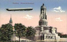 Hamburg im Kaiserreich   deutsche-schutzgebiete.de Kaiser Wilhelm, Zeppelin, Pisa, Statue Of Liberty, Germany, Tower, Building, Photography, Travel