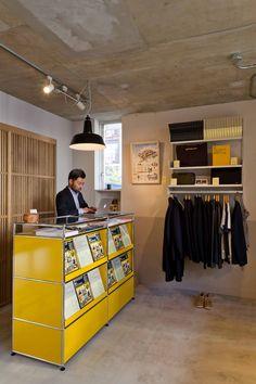 Modular Furniture, Furniture Design, Vinyl Storage, Reception Design, Shelving Systems, Nordic Interior, Shop Interiors, Home Office, Shelves