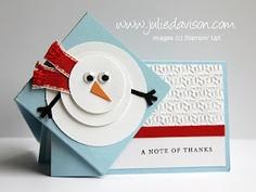 Julie's Stamping Spot -- Stampin' Up! Project Ideas by Julie Davison: Snowman Side Spring Card