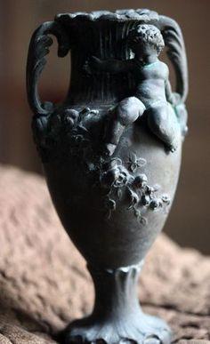 French brocante antique vase