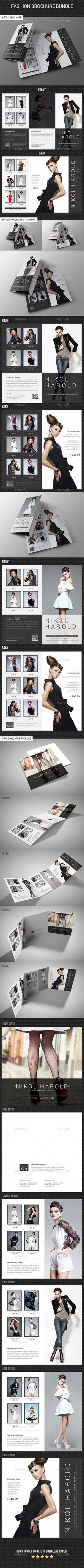 3 Fashion Brochure Bundle - Catalogs #Brochures Download here: https://graphicriver.net/item/3-fashion-brochure-bundle/19549645?ref=alena994