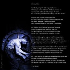 Working Man - Poetry by Tim Garner | artistpoet.com