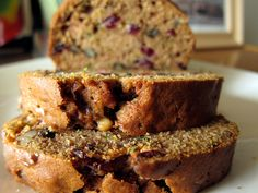walnut & cranberry zucchini bread | everybody likes sandwiches