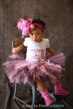 Spurs and Bling Tutu Set...Birthday Dress up Pageant by sanchezc30