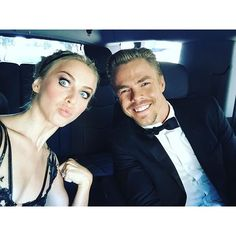 "Pin for Later: See the Stars' Personal Snaps From This Year's Emmys! Julianne Hough ""I love my ever consistent Emmy date! @derekhough love you ❤️"""