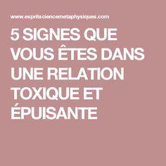 5 SIGNES QUE VOUS ÊTES DANS UNE RELATION TOXIQUE ET ÉPUISANTE