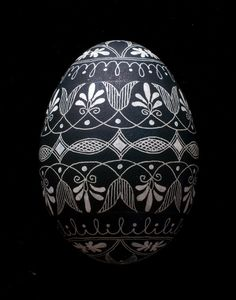 "pysanky patterns and designs | Eternal Circles"" Goose Egg Pysanky"