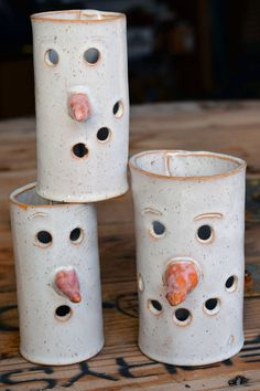 Excellent Free of Charge Ceramics projects christmas Strategies Snowman Luminary Winter Decor Candle Holder Decoration Christmas Snowmen – Clay Christmas Decorations, Christmas Clay, Christmas Snowman, Christmas Tables, Nordic Christmas, Modern Christmas, Hand Built Pottery, Slab Pottery, Ceramic Pottery