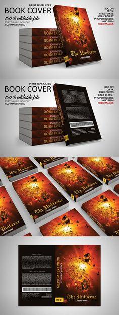Universe Book Cover Print Template