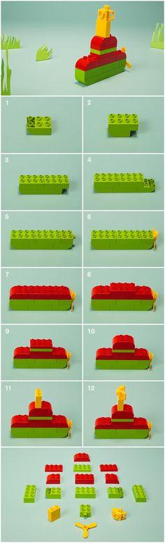 Votre enfant croyait avoir découvert tous les types de véhicules, mais en voilà un autre qui fait surface. Il fait surface, littéralement. Oui, nous parlons bien du sous-marin LEGO® DUPLO®. Construisez-le ensemble et ajoutez-le aux favoris du vaste parc de véhicules de votre enfant.