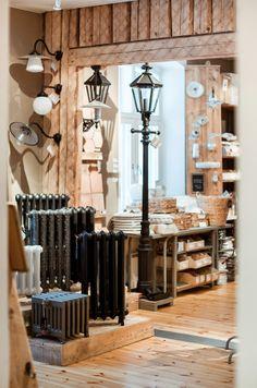 Lights, lamps and cast iron radiators Cast Iron Radiators, Home Renovation, Showroom, Lamps, Chandelier, Ceiling Lights, Lighting, Store, Ideas