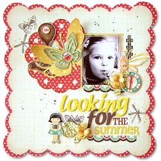{Looking for the summer} *Pink Paislee* I've used here Hometown Summer collection.    - Scrapbook.com