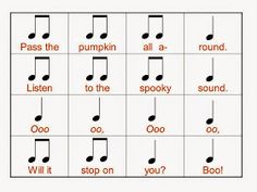 I have posted about this before, but I REALLY love the Pass the Pumpkin song/activity. This year, I came up with a new powerpoint for my fi. Kindergarten Music, Teaching Music, Preschool Music Activities, Leadership Activities, Teaching Activities, Classroom Activities, Teaching Tools, Teaching Ideas, Pumpkin Song
