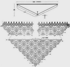 Crochet and arts: Delicate shawl fuchsia