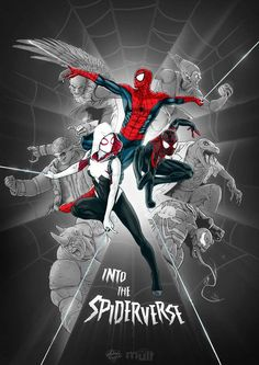 spider-man: into the spider-verse (art by mateus cosme p. Marvel Comic Universe, Marvel Vs, Marvel Memes, Captain Marvel, Iron Spider, Spider Gwen, Spiderman Art, Amazing Spiderman, Comic Books Art
