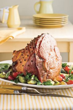 Thanksgiving Turkeys & More: Honey-Bourbon Glazed Ham