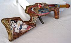 60s Vintage Japanese Toys Astro Boy Atom Ray Gun Rifle Tin Toy TV Anime Works | eBay