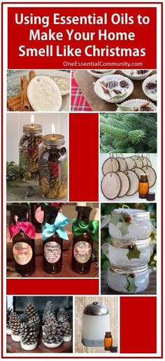 9 Ways to Use Essential Oils to Make Your Home Smell Like Christmas- diffuser blends, ornaments, room sprays, fire starters, scented pinecones, pomanders, gel air fresheners, and more #essentialoils #essentialoilrecipes #essentialoilsforChristmas #Christmasdiffuserblends #homemadeChristmas #naturalDIY #naturalChristmas #Christmasroomsprays