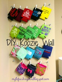 Koozie wall, perfect for college kids!