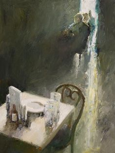 'Open Table' by American painter Danny McCaw (b.1978, youngest son of painter Dan McCaw). 24 x 18 in. via the artist's site