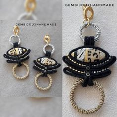 Earrings Handmade, Handmade Jewelry, Soutache Earrings, Shibori, Fashion Earrings, Polymer Clay, Personalized Items, Instagram, Ribbon
