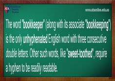 TESOL ESL [ English Facts ] Bookkeeper