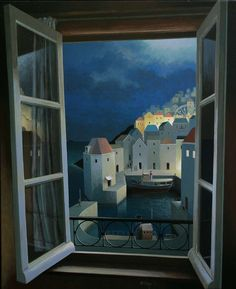 Michiel Schrijver - Entrance to the night. 110 x 90 cm. 2012