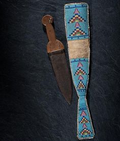 Beavertail knife-sheath belonged to Crowfoot