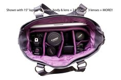 Kelly Moore camera bags. They are stylish and functional! I want one so bad!