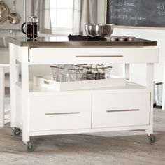 Have to have it. Concord Kitchen Island with Stools - White $549.99 Need one 36 inches or with granite