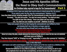They follow the Lamb wherever he goes: Jesus and His Apostles Affirm the Need to Obey God...