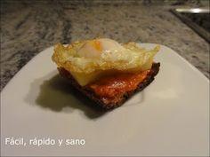 fácil, rápido y sano Queso Edam, Tapas, Baked Potato, Potatoes, Beef, Baking, Ethnic Recipes, Food, Quail Eggs