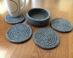 Fun Projects, Doilies, Coasters, Placemat, Knitting, Crochet, Diana, How To Make, Home Decor
